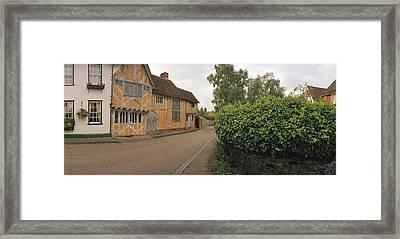 Wool Merchant House Lavenham Framed Print by Jan W Faul