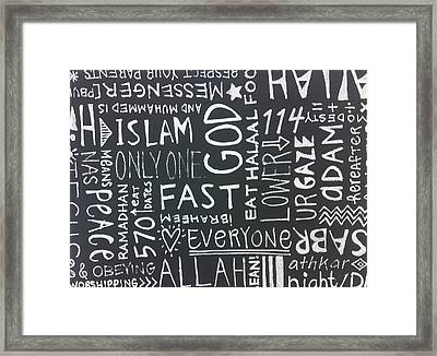 Words Of A Believer Framed Print by Salwa  Najm