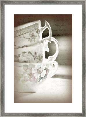 Words Remembered Framed Print by Bonnie Bruno
