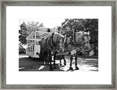 Work Framed Print by Betsy Knapp
