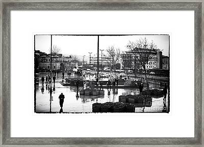 Work Day In Istanbul Framed Print by John Rizzuto
