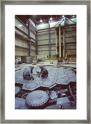 Workers On The Refueling Floor Framed Print