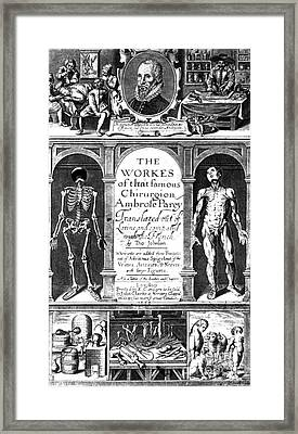 Workes Of That Famous Chirurgion Framed Print by Science Source