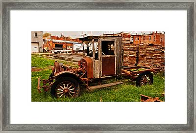 Workhorse Framed Print by Edward Peterson