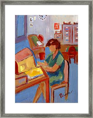 Working At Nys Head Injury Association Framed Print