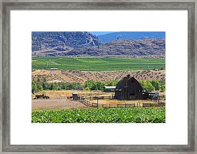 Working Farm Framed Print by Nancy Harrison