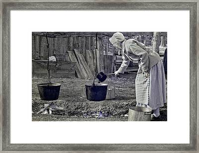 Working Girl Framed Print