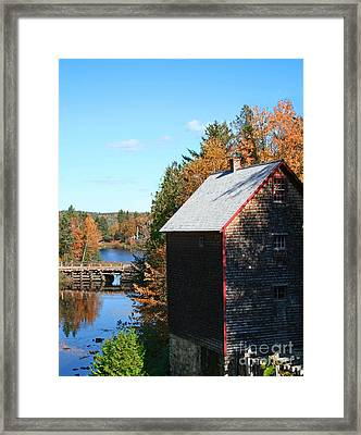 Framed Print featuring the photograph Working Gristmill by Barbara McMahon