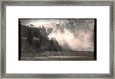 Working In The Yard Framed Print by Larry McManus
