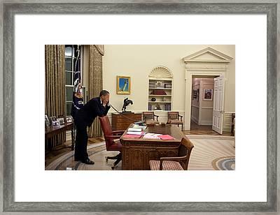 Working Late President Barack Obama Framed Print