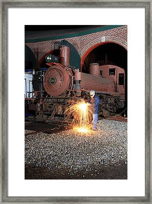 Working On The Railroad Framed Print