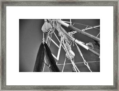 Working Rigg Framed Print by Barry R Jones Jr