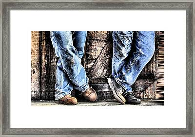 Working Shoes Framed Print by Kenneth Mucke