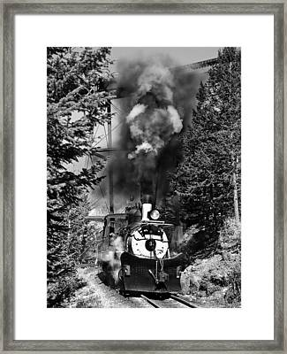 Working Up The Loop Black And White Framed Print by Ken Smith