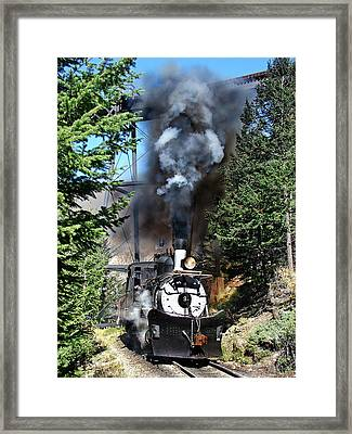 Working Up The Loop Framed Print by Ken Smith