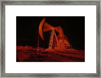 Working Wellhead Framed Print by Jeff Swan