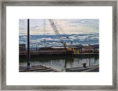 Working With Clouds Framed Print by Peter Chilelli
