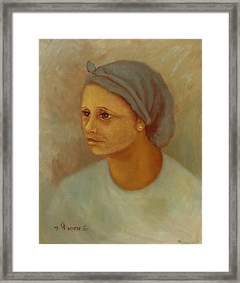 Working Woman Framed Print by Rachel Hershkovitz