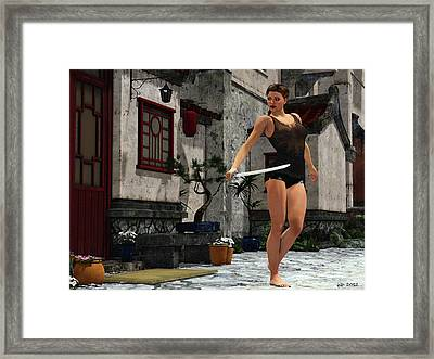 Workout Prep Framed Print
