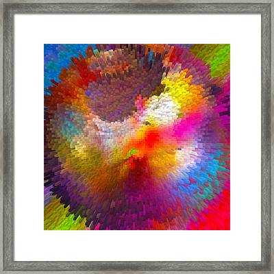 World Blocks Framed Print