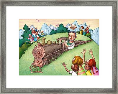 World Doctor Framed Print by Autogiro Illustration