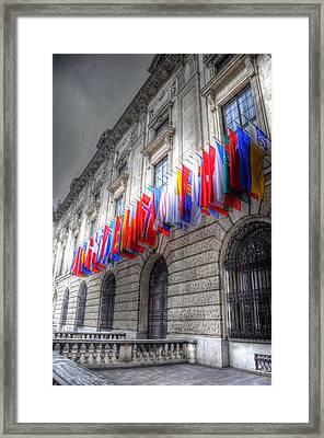 World Flags Framed Print