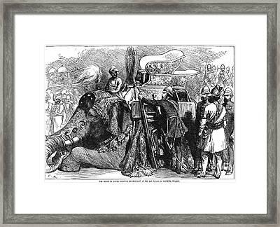 World History: India Framed Print by Granger
