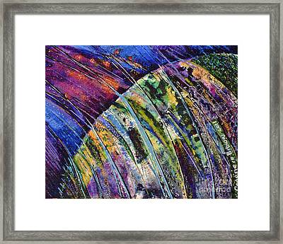 World In A Spin Framed Print