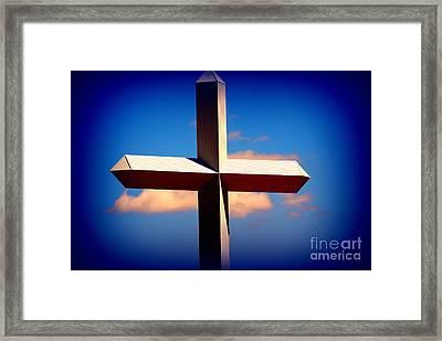 World Largest Cross In Illinois  Framed Print by Susanne Van Hulst
