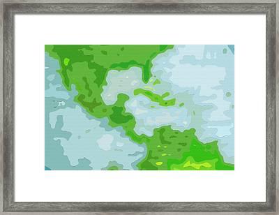 World Map - Central America-caribbean-southern United States Framed Print by Steve Ohlsen