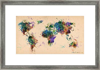 World Map 2 Framed Print by Mark Ashkenazi