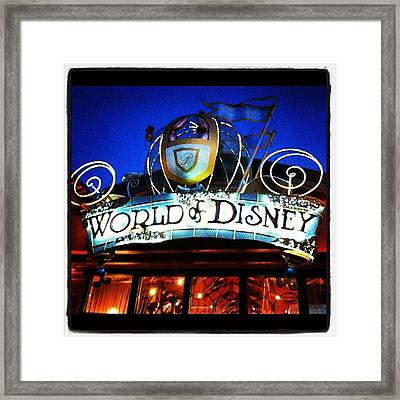 World Of Disney Framed Print