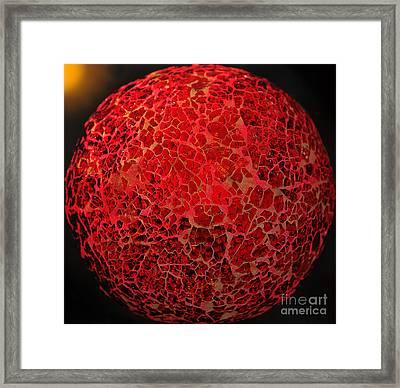 World On Fire Framed Print by Kaye Menner