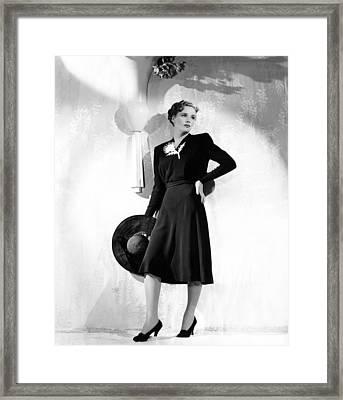 World Premiere, Frances Farmer Wearing Framed Print by Everett