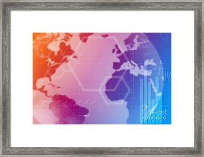 World Technology Framed Print by Andre Babiak