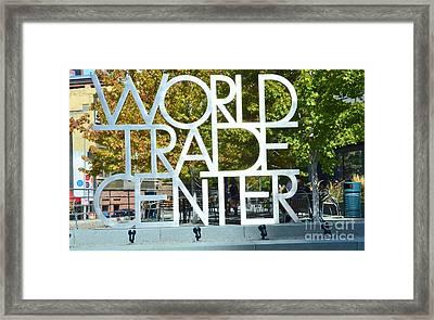 World Trade Center Framed Print by Kathleen Struckle