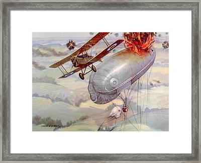 World War I Air Battle With American Framed Print by Everett