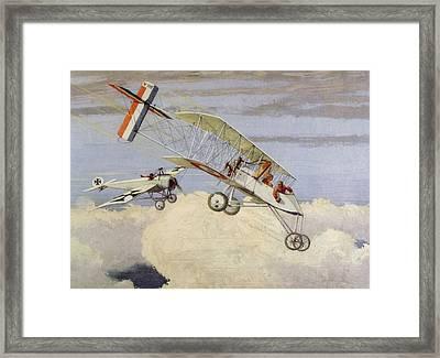 World War I Air Battle With German Framed Print