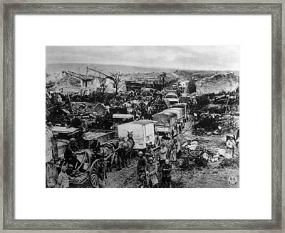 World War I, Allied Military Traffic Framed Print by Everett