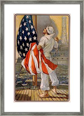 World War I, American Calendar Art Framed Print
