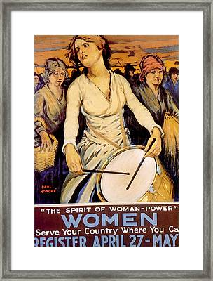 World War I American Homefront Service Framed Print by Everett