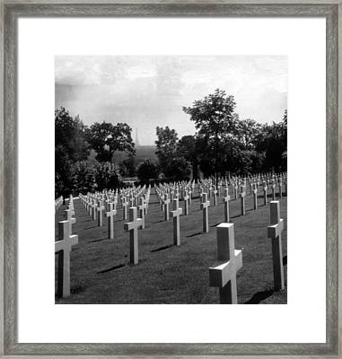 World War I, American Military Cemetery Framed Print