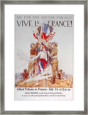 World War I American Poster Depicting Framed Print by Everett
