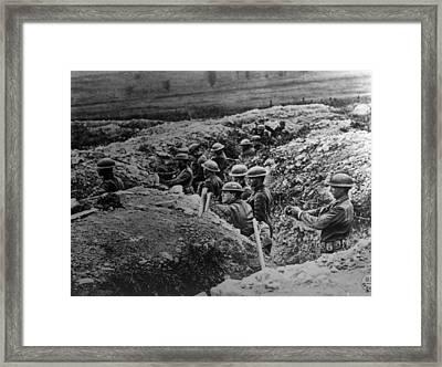 World War I, American Soldiers Framed Print