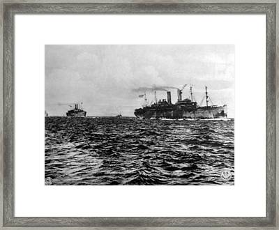 World War I, American Troop Ships Framed Print