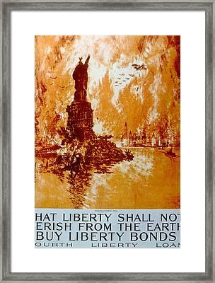World War I American War Bonds Poster Framed Print by Everett