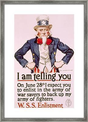 World War I American War Savings Poster Framed Print by Everett