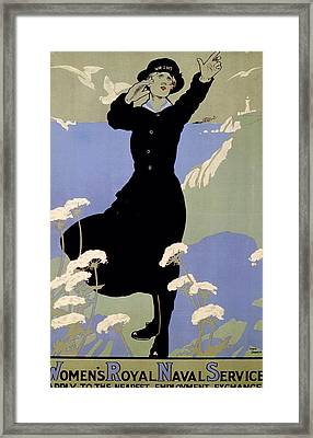World War I British Womans Royal Navy Framed Print