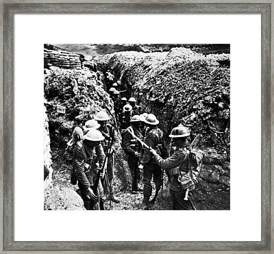 World War I, English Soldiers Framed Print by Everett