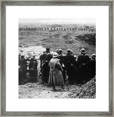 World War I, French Reserves Watching Framed Print by Everett